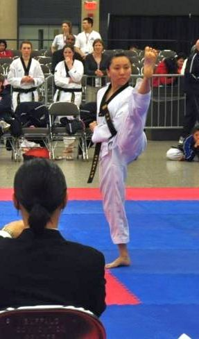 Rene Chen at the National Poomsae Team Trials in Buffalo, NY